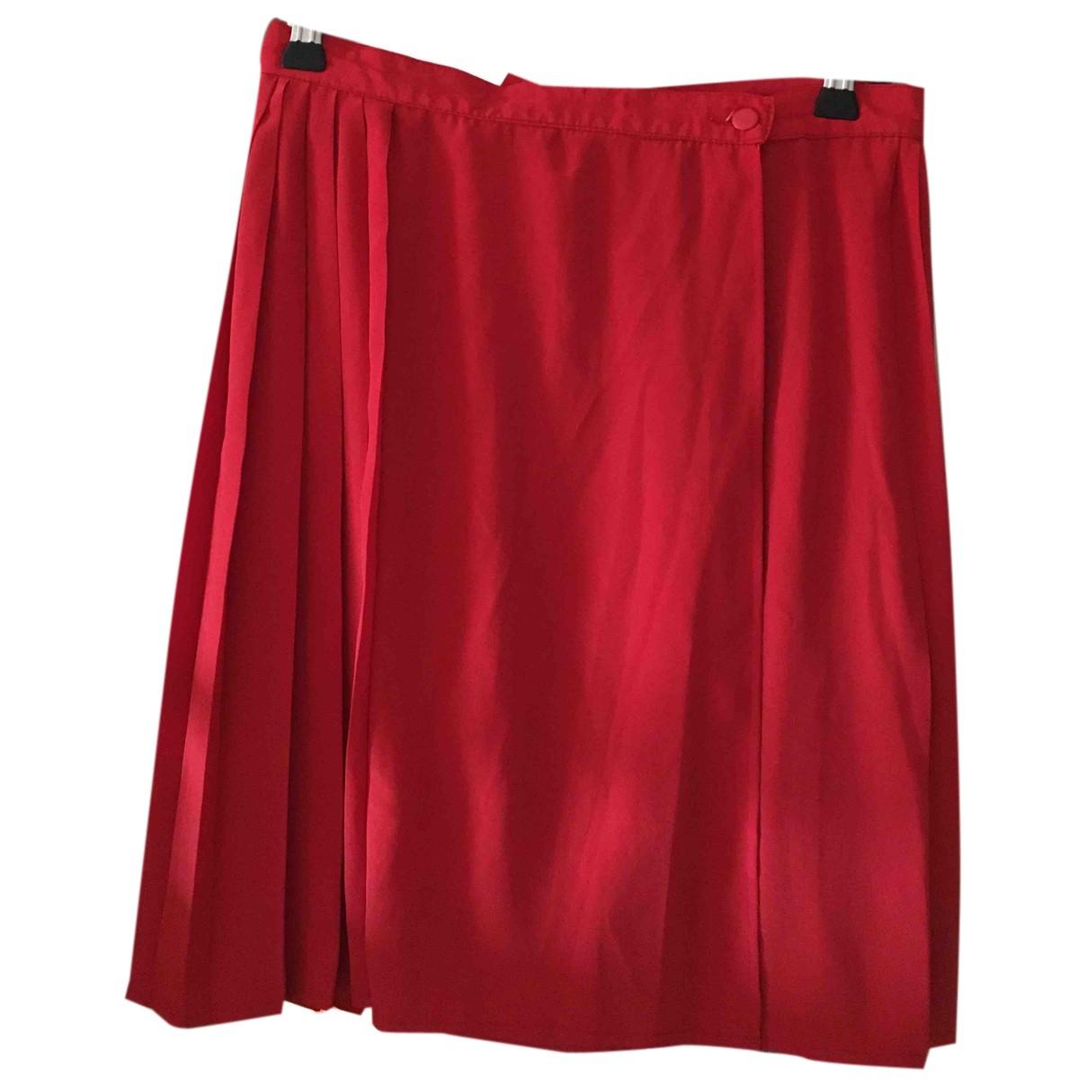 Rodier - Jupe   pour femme en soie - rouge
