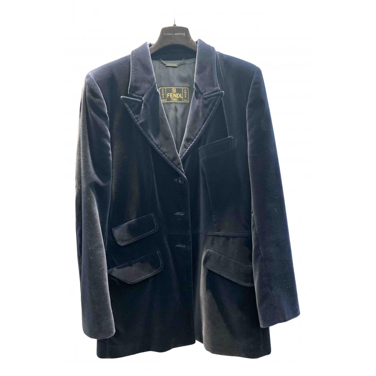 Fendi N Blue Cotton jacket for Women 42 IT