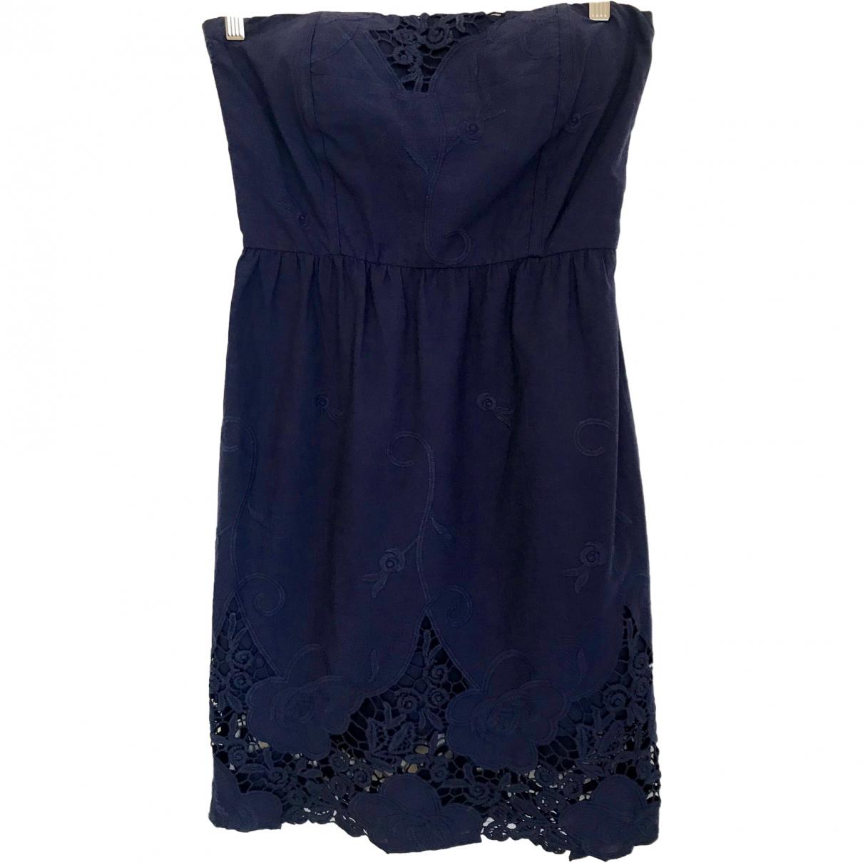 Maje \N Blue Cotton dress for Women 38 FR