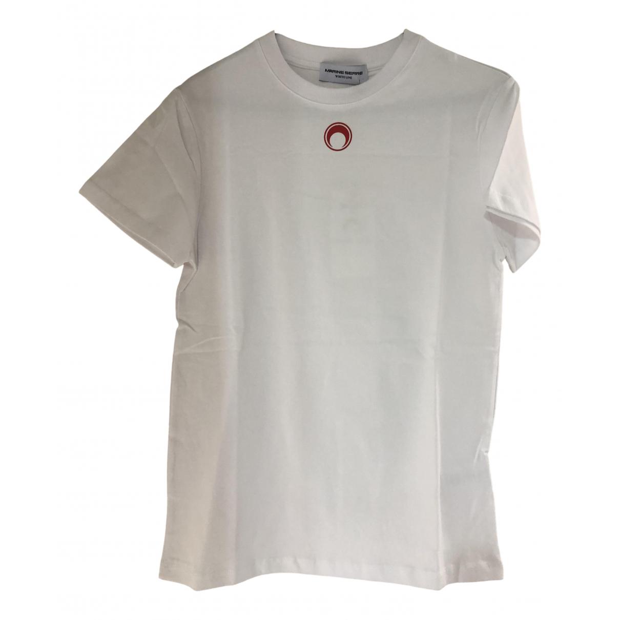 Marine Serre - Top   pour femme en coton - blanc