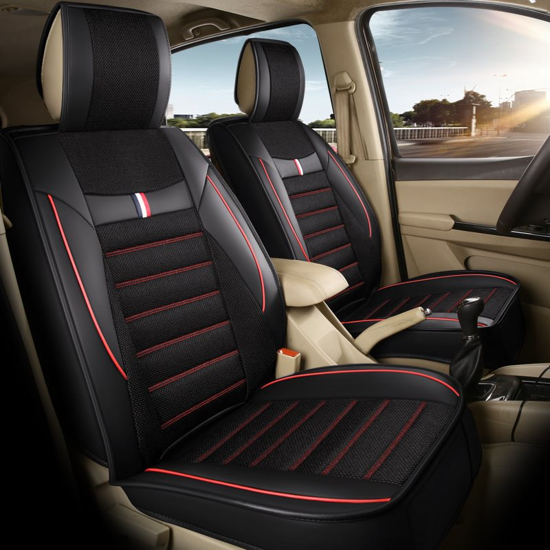 Wear Resistant Durable Linen Full Coverage 1 Front Car Seat Cover Suitable For Most Cars/ 7-Seater Seat Covers Can Be Customized