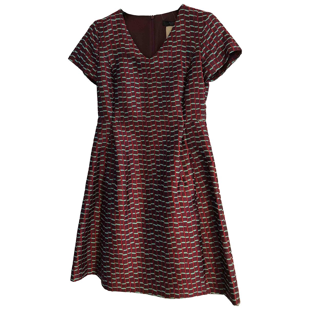 Max Mara Weekend \N Kleid in  Bordeauxrot Polyester