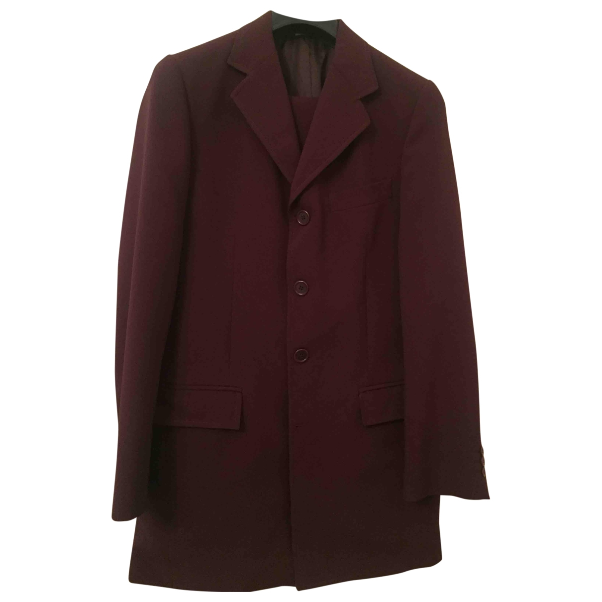 Non Signé / Unsigned \N Burgundy Wool Suits for Men S International