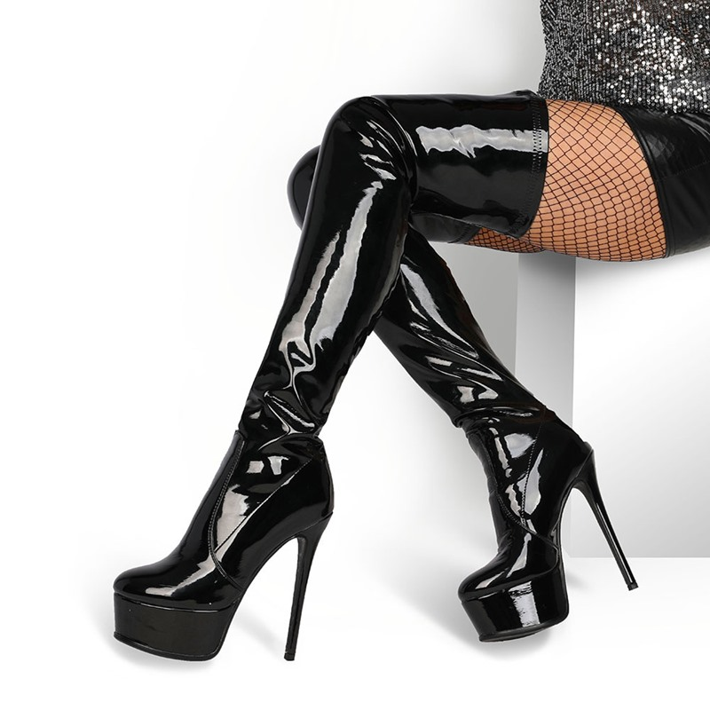 Ericdress Plain Stiletto Heel Slip-On Thread Boots