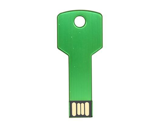 New Fashion Metal Key USB Flash Drive 8G USB Flash Drive - Green