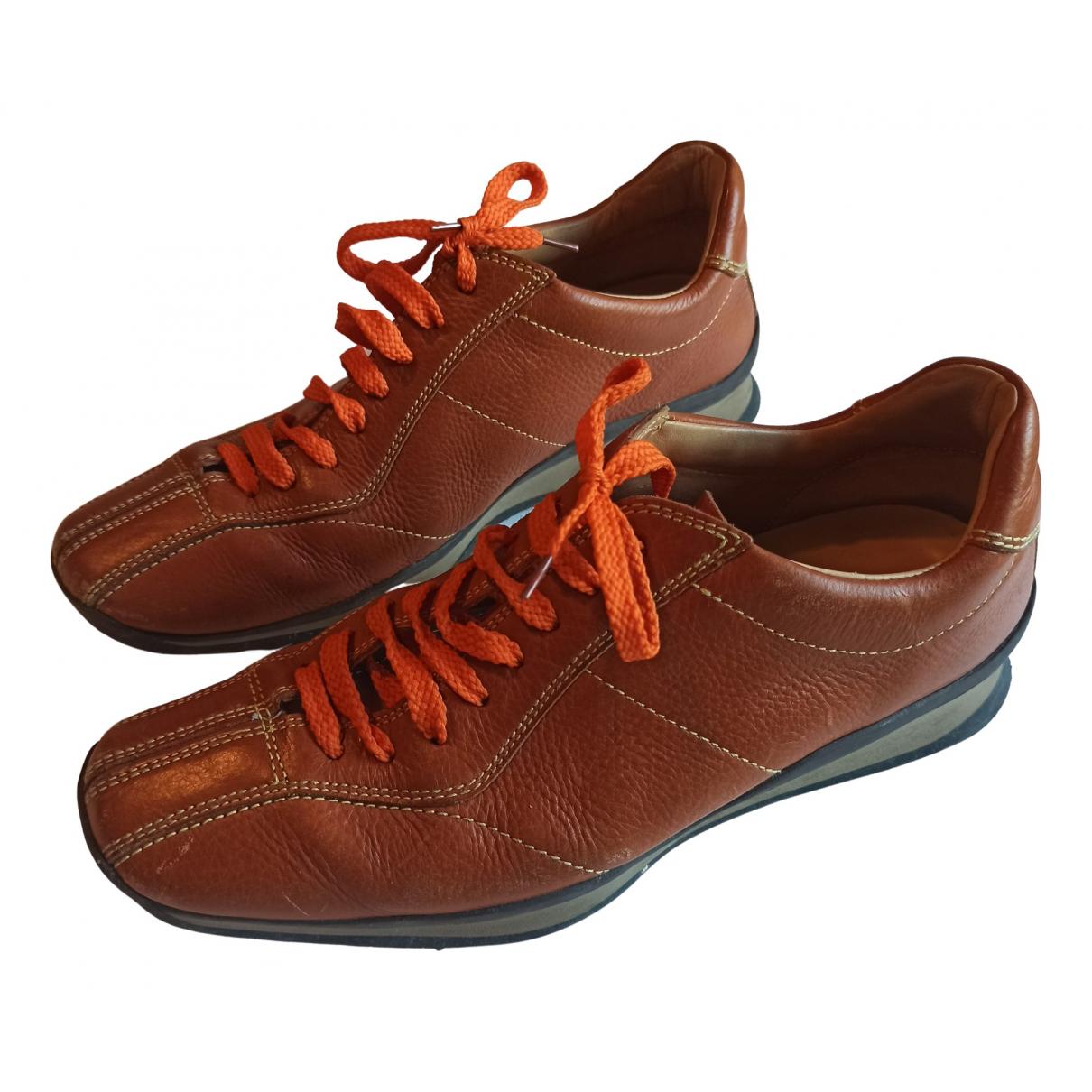 Prada \N Sneakers in  Braun Leder