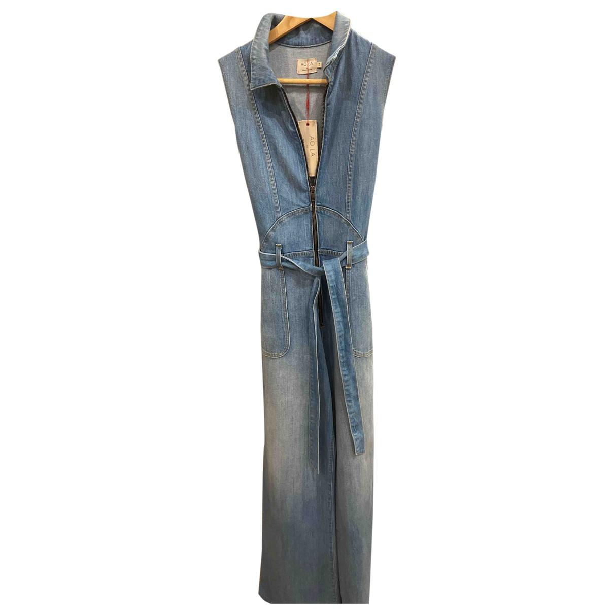 Alice & Olivia \N Blue Denim - Jeans jumpsuit for Women 38 FR
