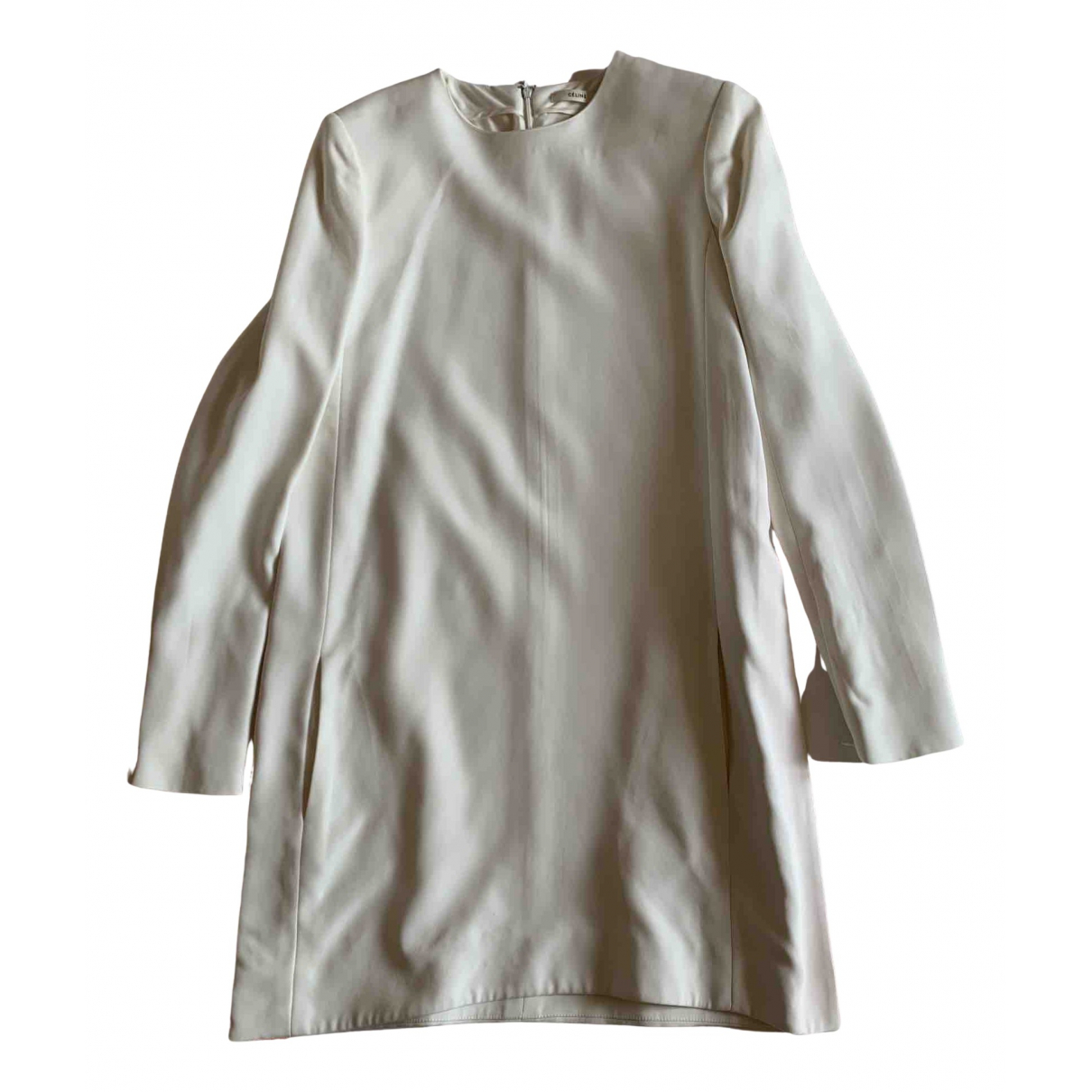 Celine \N Kleid in  Beige Viskose