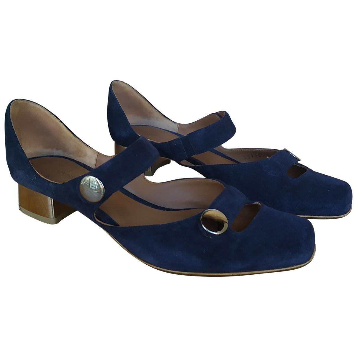 Emporio Armani \N Blue Suede Heels for Women 38.5 EU