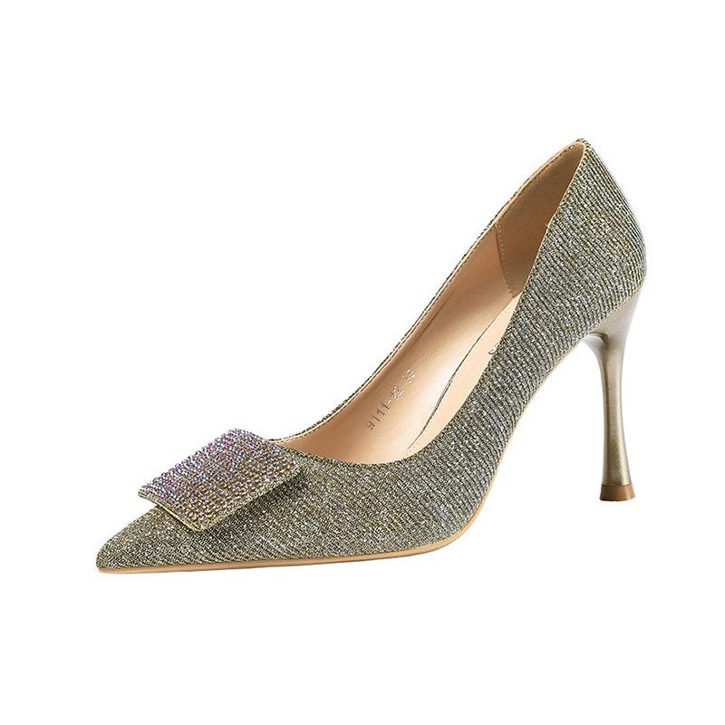 Ericdress Sequin Pointed Toe Slip-OnStiletto Heel Women's Pumps