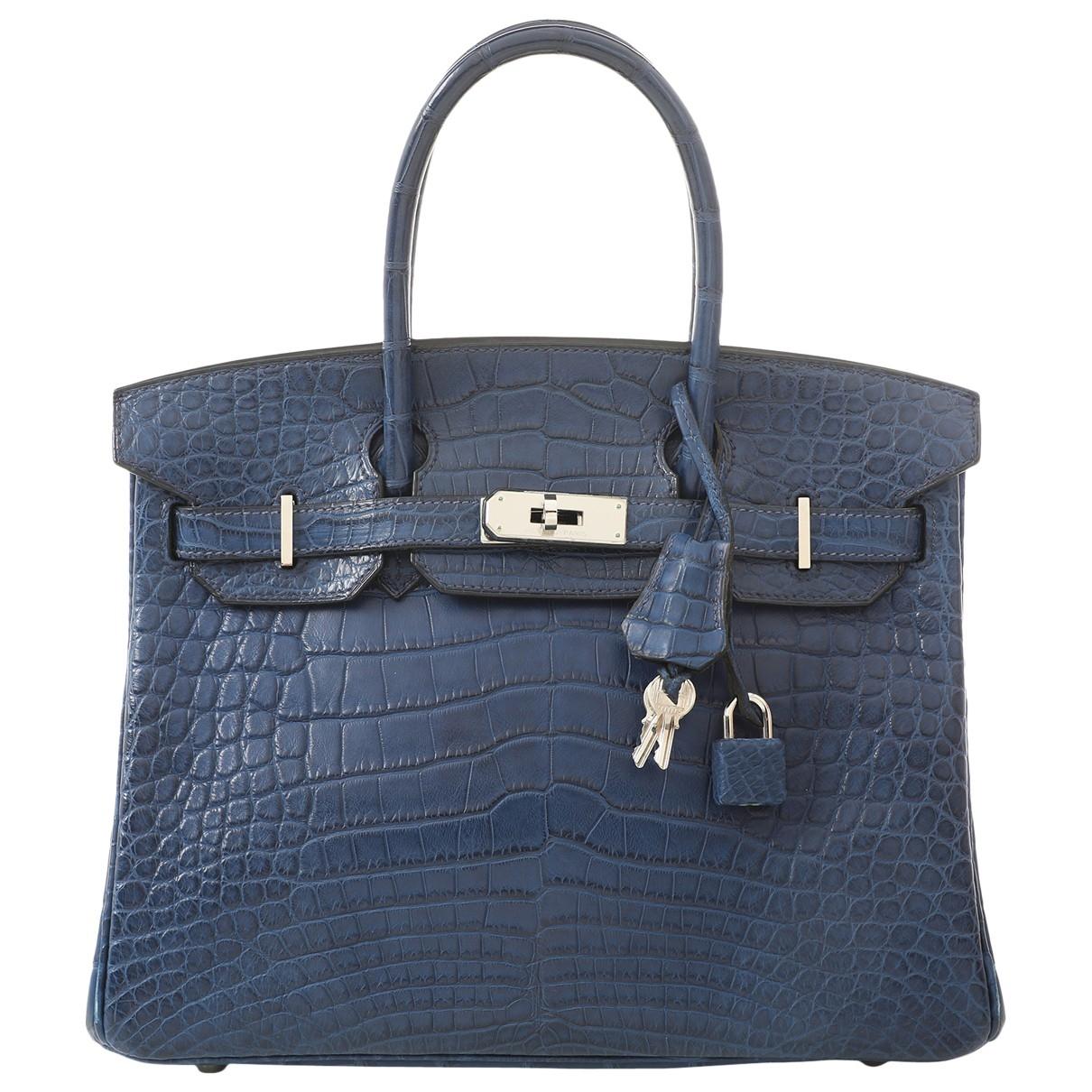 Hermès Birkin 30 Navy Crocodile handbag for Women \N