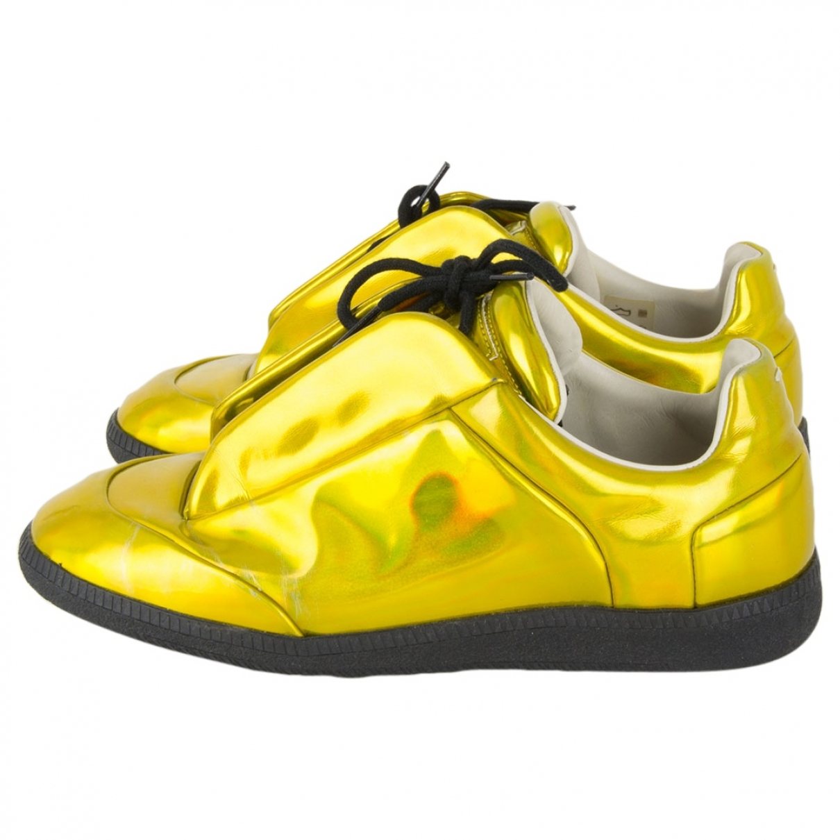 Maison Martin Margiela \N Gold Patent leather Trainers for Women 39 EU