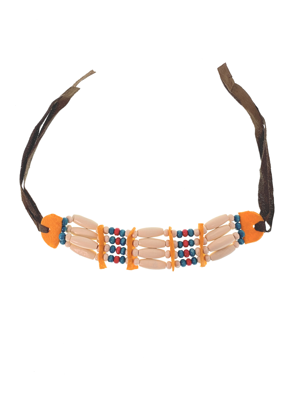 Kostuemzubehor Halskette Holzperlen Farbe: multicolor bzw. bunt