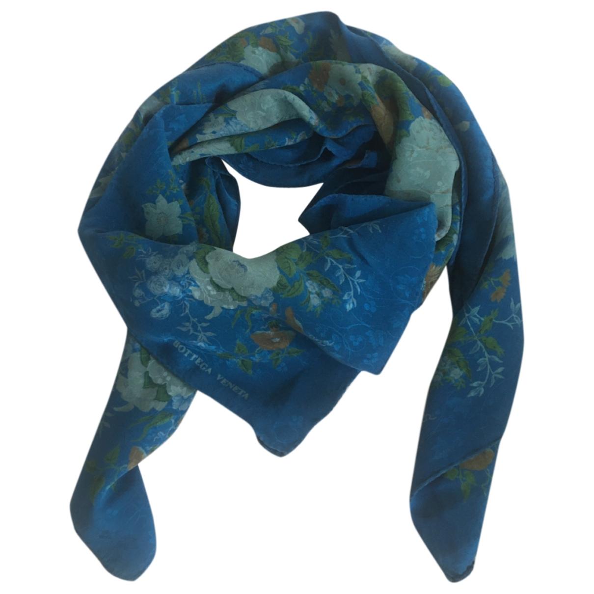 Bottega Veneta - Foulard   pour femme en soie - bleu
