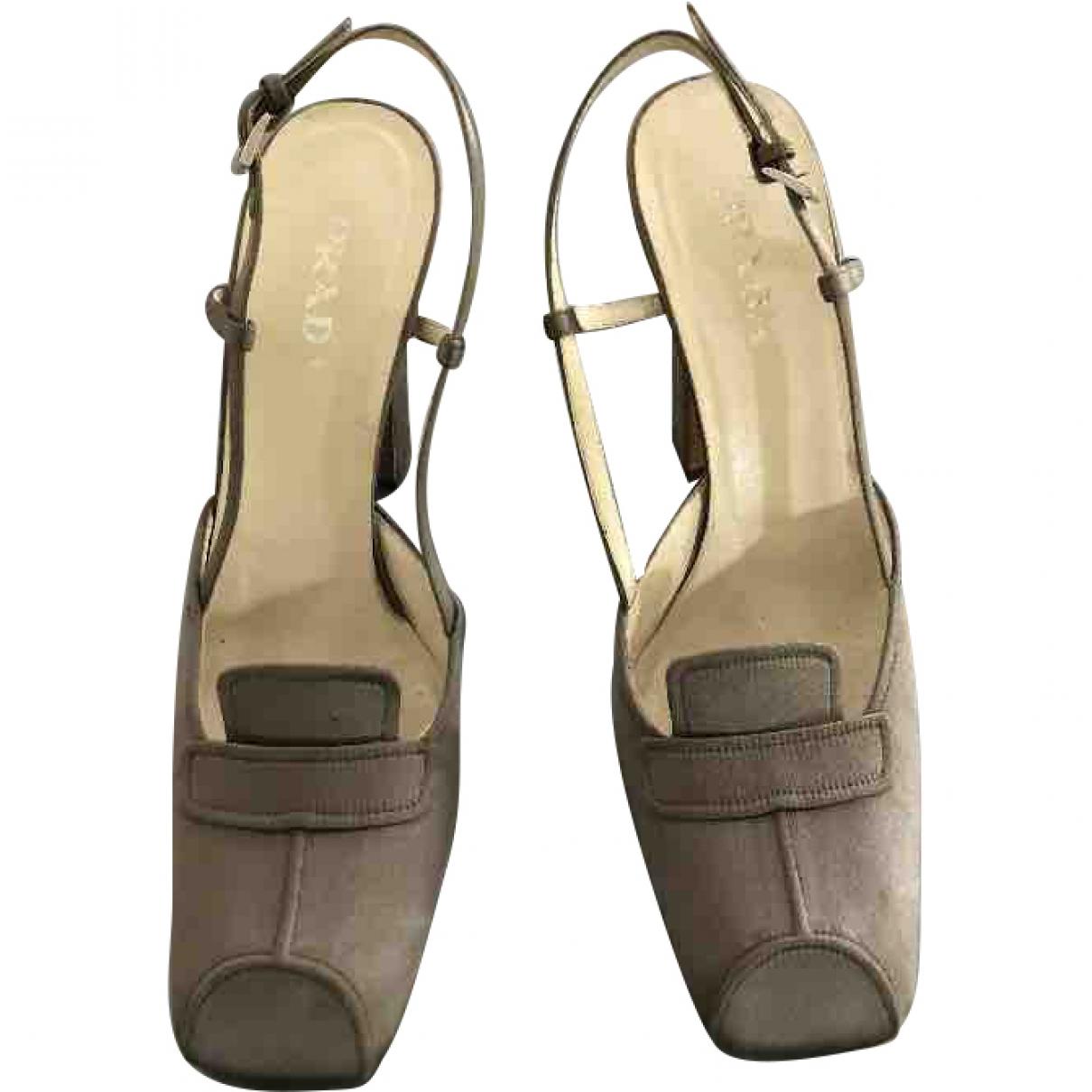 Prada \N Grey Cloth Heels for Women 39 EU