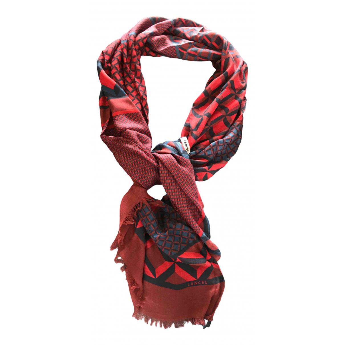 Lancel \N Burgundy scarf for Women \N