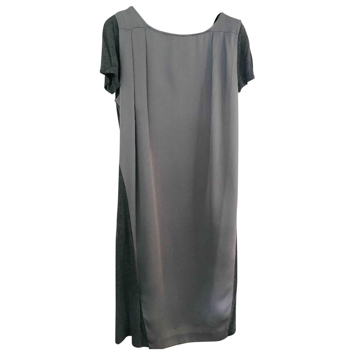 Max & Co \N Kleid in  Grau Baumwolle - Elasthan