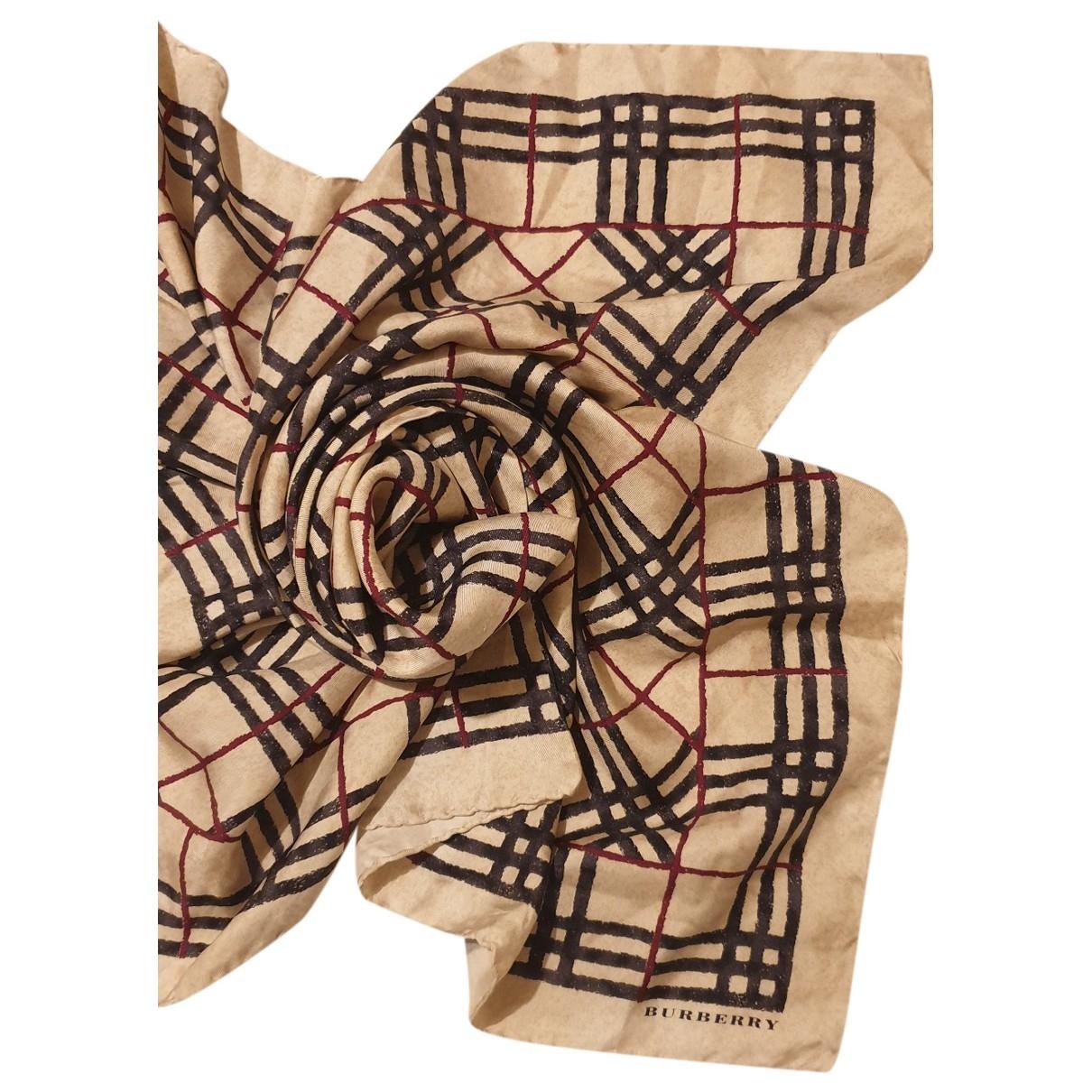 Burberry - Carre   pour femme en soie - beige