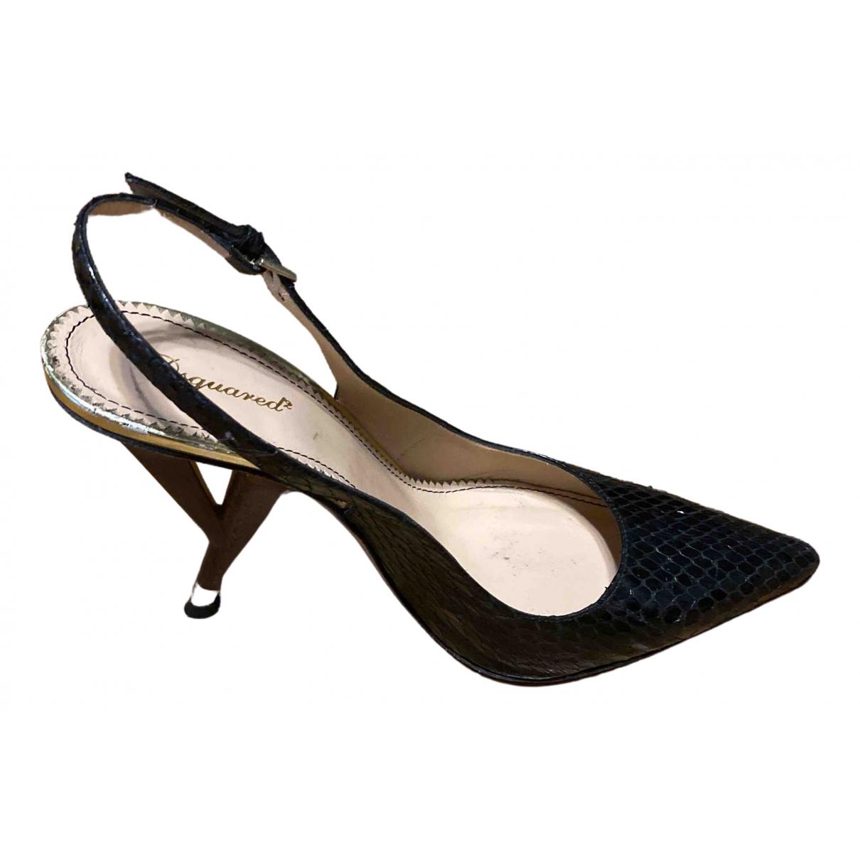 Dsquared2 - Escarpins   pour femme en cuir - noir