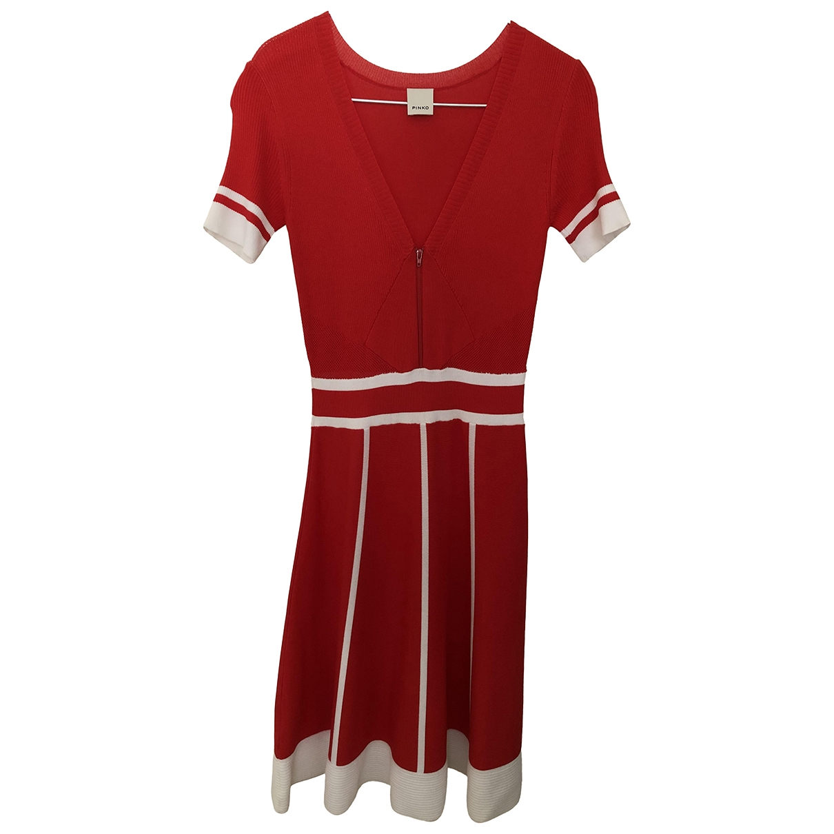 Pinko \N Kleid in  Rot Viskose