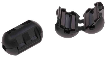 RS PRO Openable Ferrite Clamp, 15 Dia. x 25.2mm, For Computer Peripherals, Digital TV, Internal & External Power (2)