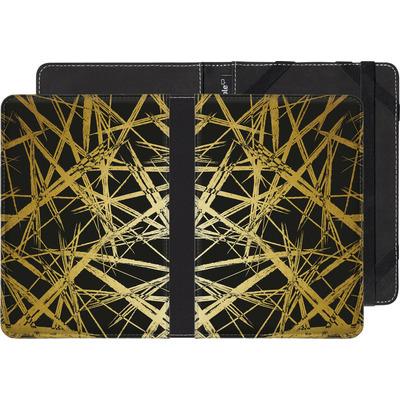 Kobo Aura eBook Reader Huelle - Strokes Gold Black von Khristian Howell