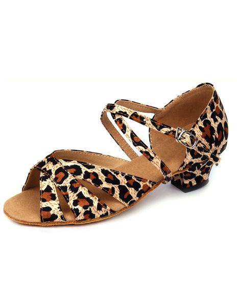 Milanoo Zapatos de bailes latinos de tela con lentejuelas
