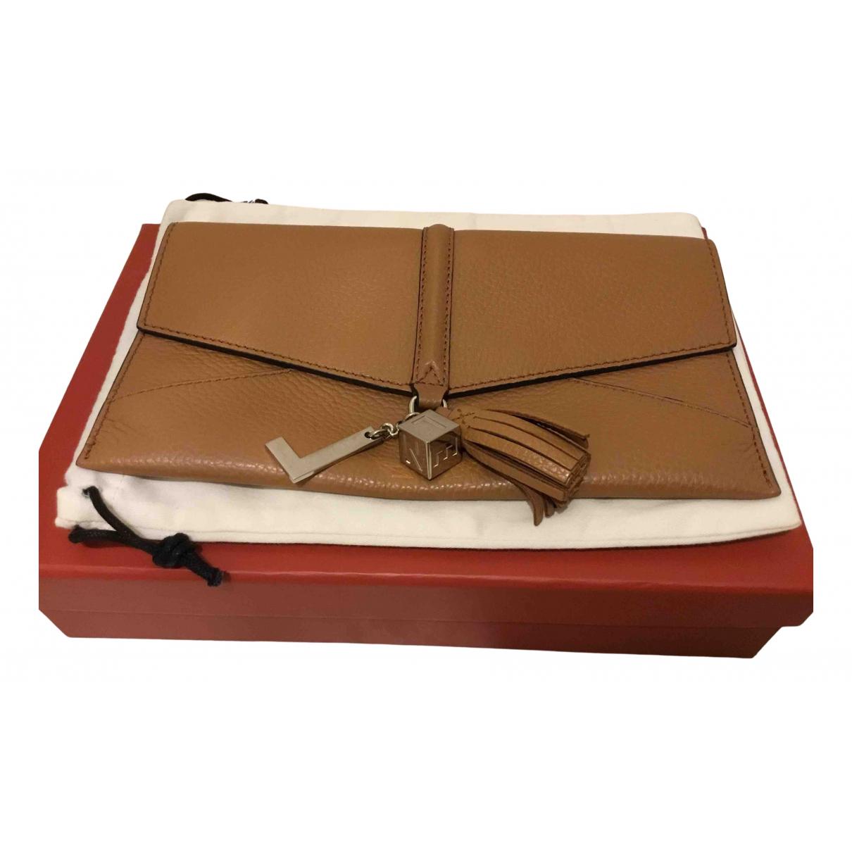 Lancel - Pochette   pour femme en cuir - camel