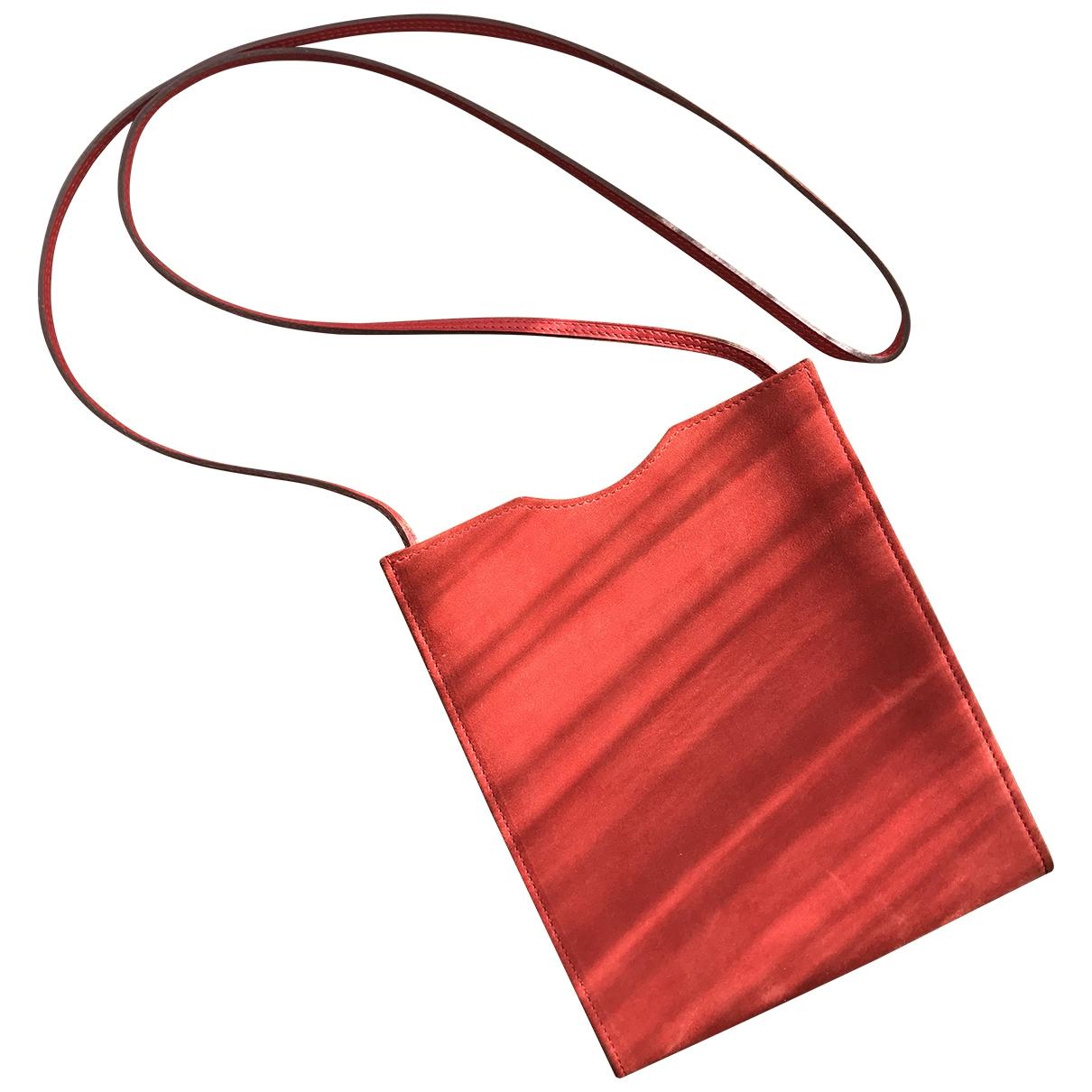 Hermès \N Red Suede Clutch bag for Women \N