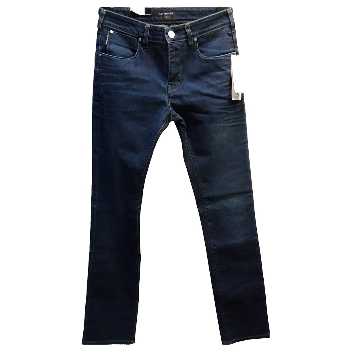 Karl Lagerfeld \N Navy Cotton Jeans for Men 31 US