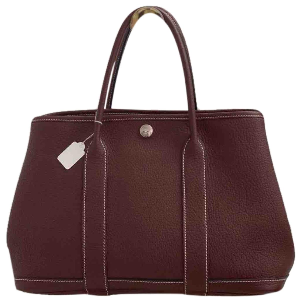 Hermès Garden Party Burgundy Leather handbag for Women \N