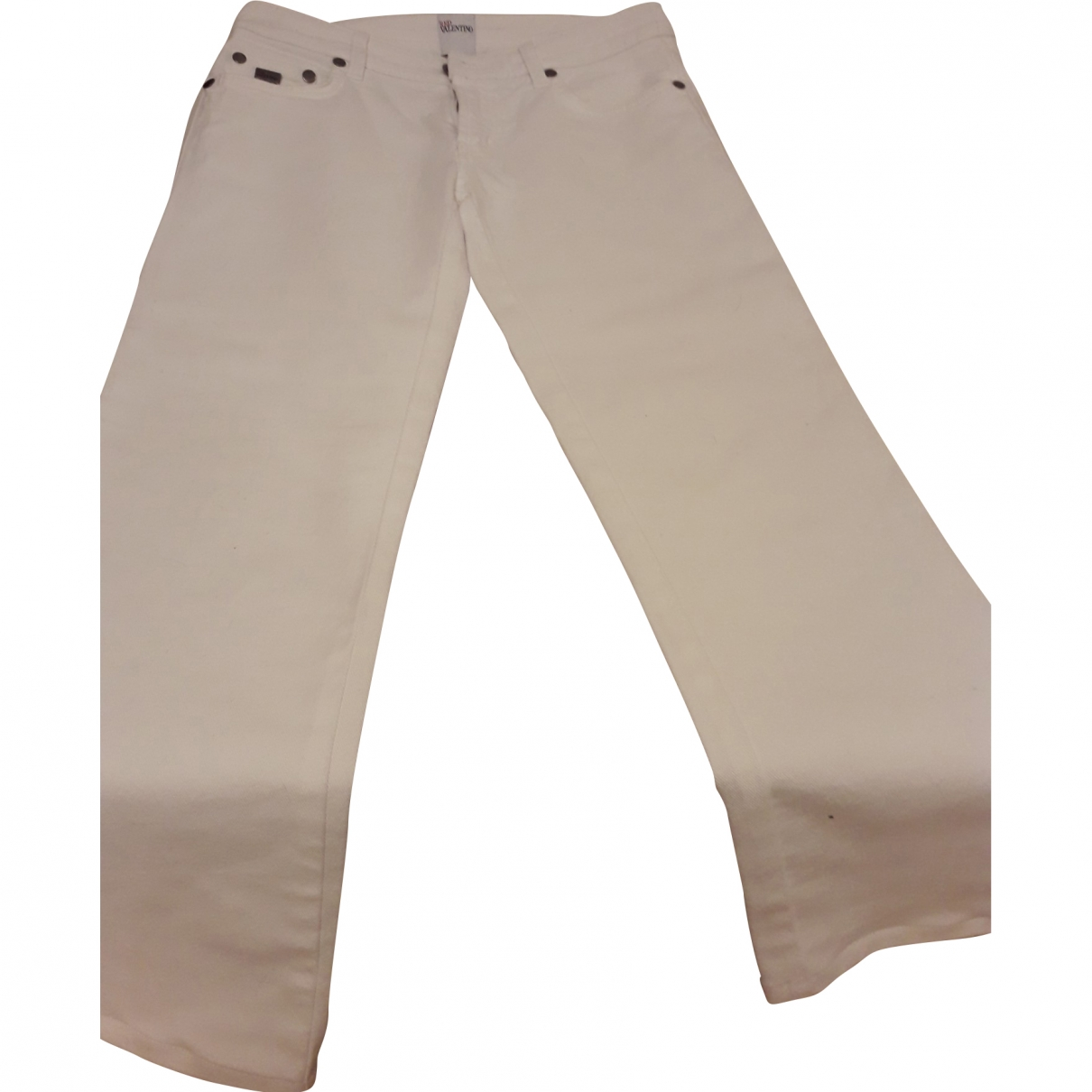 Red Valentino Garavani \N White Cotton Jeans for Women 27 US