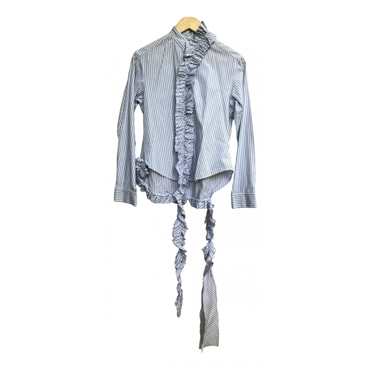 Yohji Yamamoto - Top   pour femme en coton - blanc