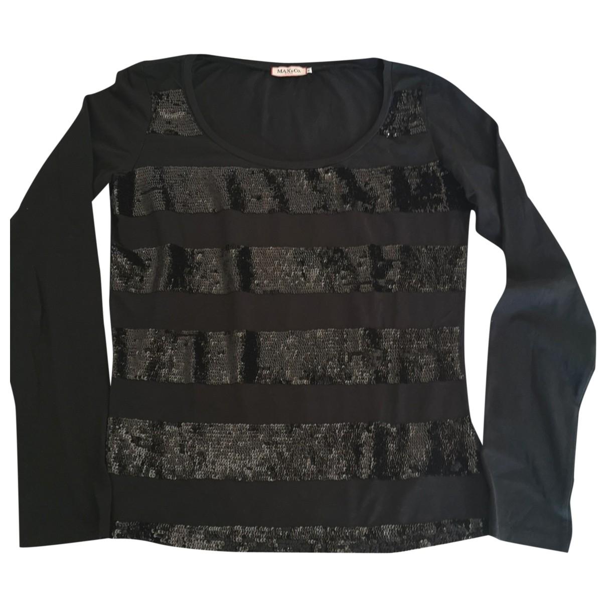 Max & Co - Pull   pour femme en coton - noir
