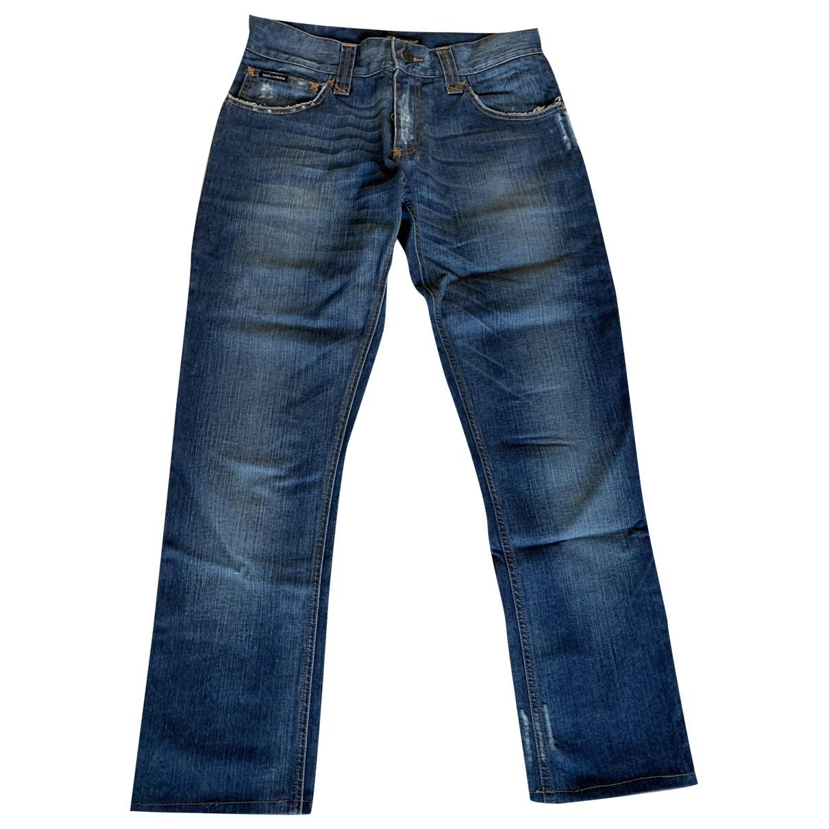 Dolce & Gabbana \N Navy Cotton Jeans for Men 42 FR