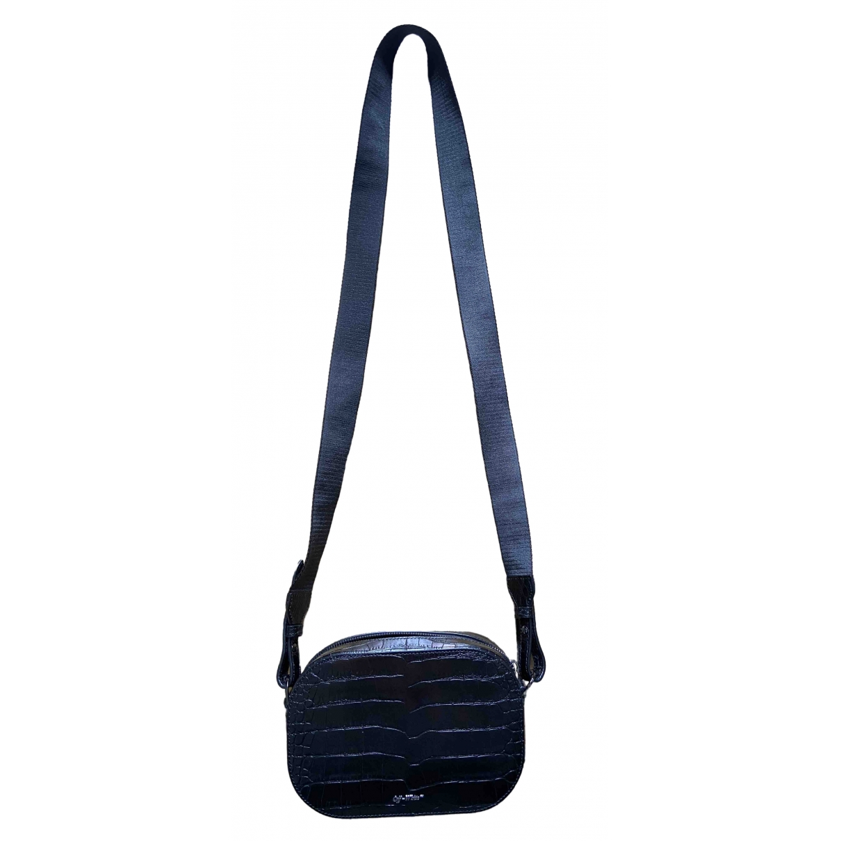 Off-white \N Black Leather handbag for Women \N
