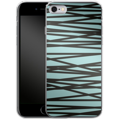 Apple iPhone 6s Silikon Handyhuelle - Rendezvous Stripe von Khristian Howell