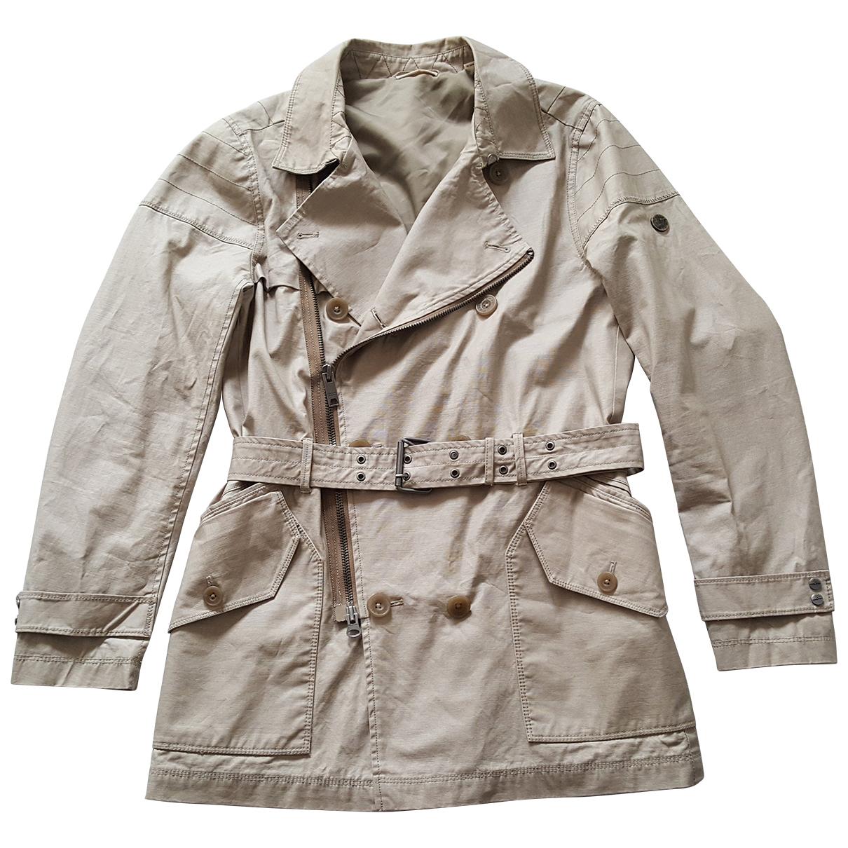 Donna Karan N Beige Cotton coat for Women M International