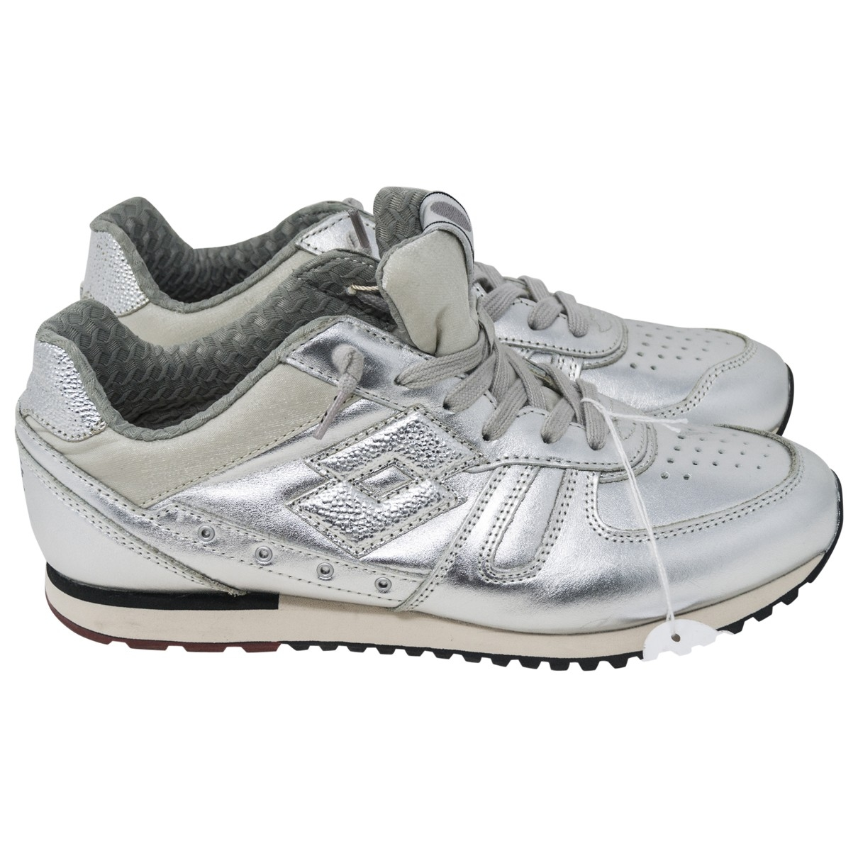 Lotto \N Silver Leather Trainers for Women 8 US