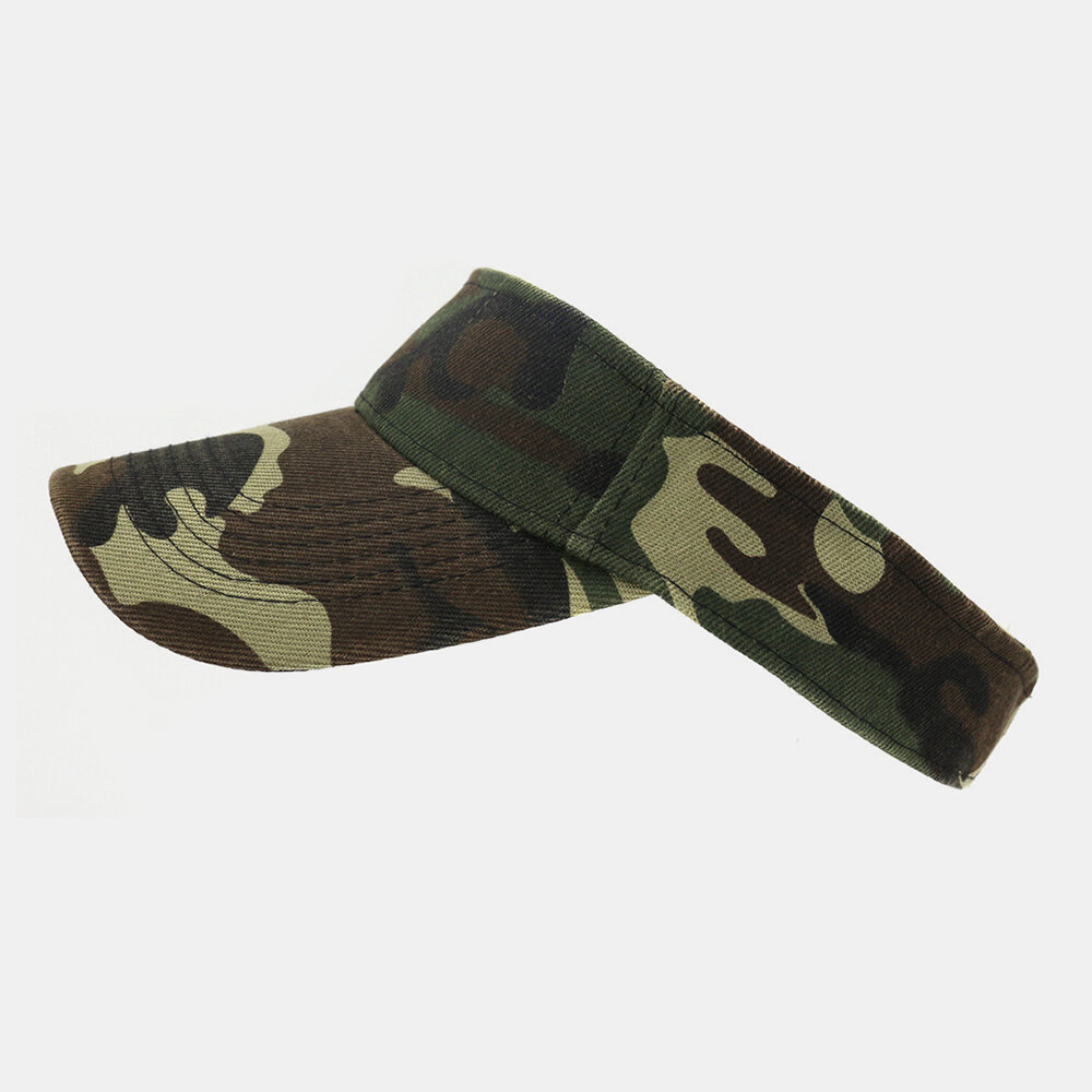 Camouflage Empty Top Hat Sun Visor