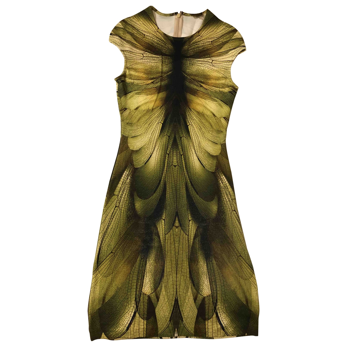 Mcq \N Kleid in  Gruen Baumwolle - Elasthan
