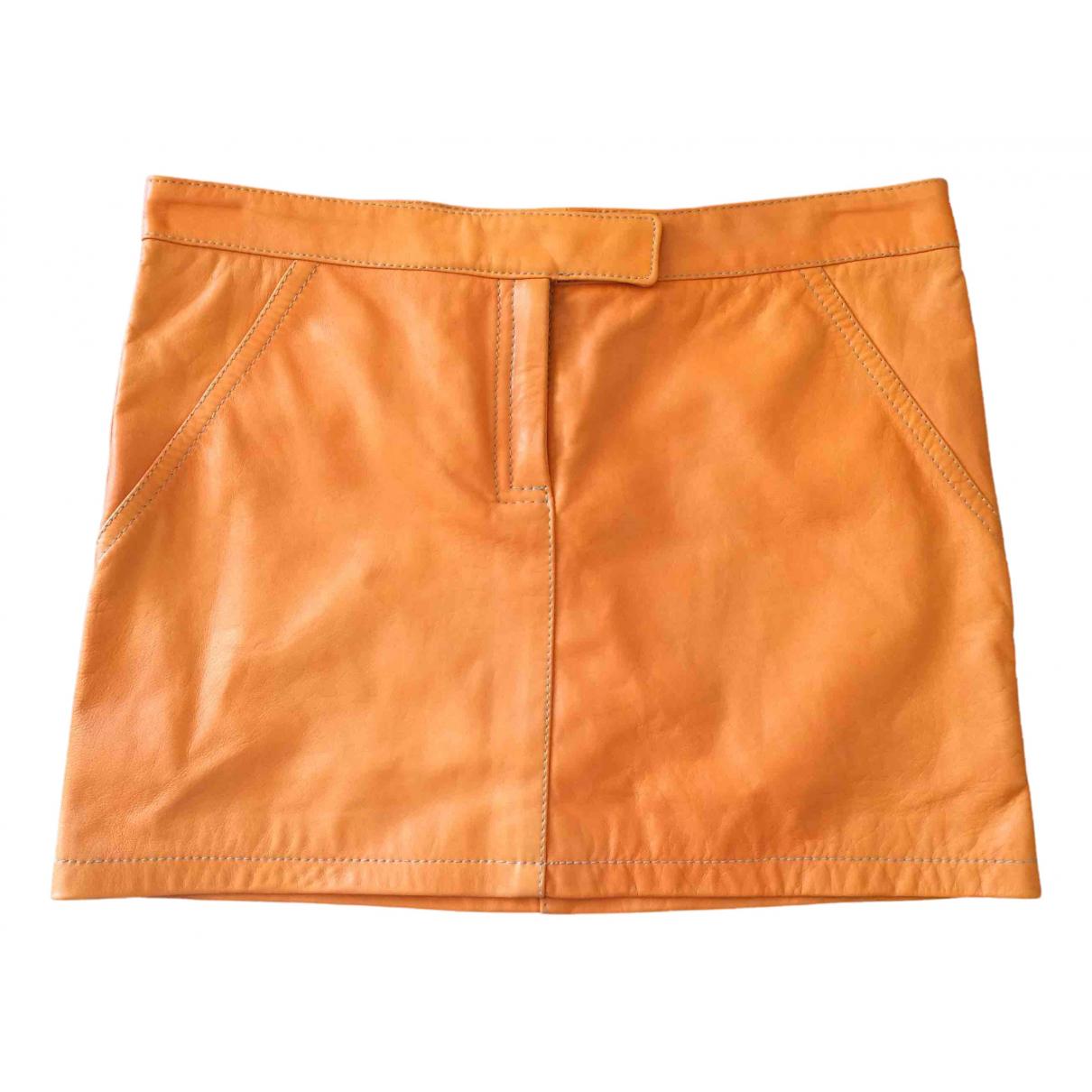 Non Signe / Unsigned \N Rocke in  Orange Leder