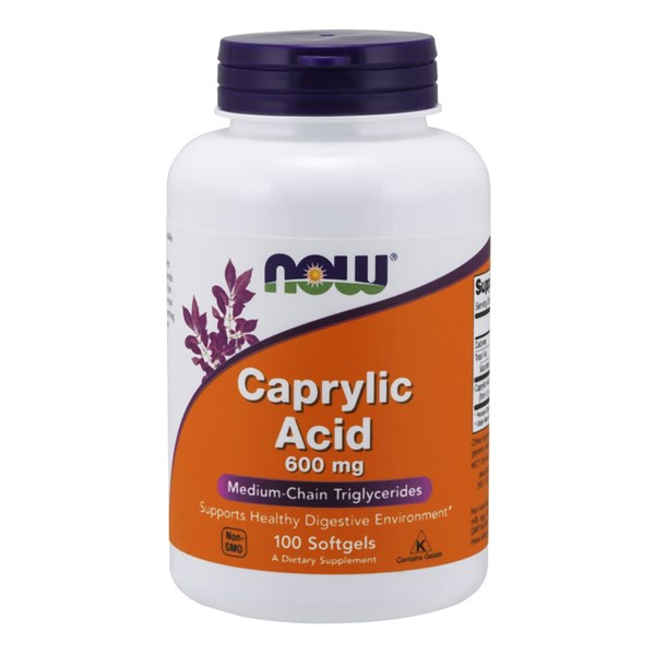 Caprylic Acid 100 Softgels by Now Foods