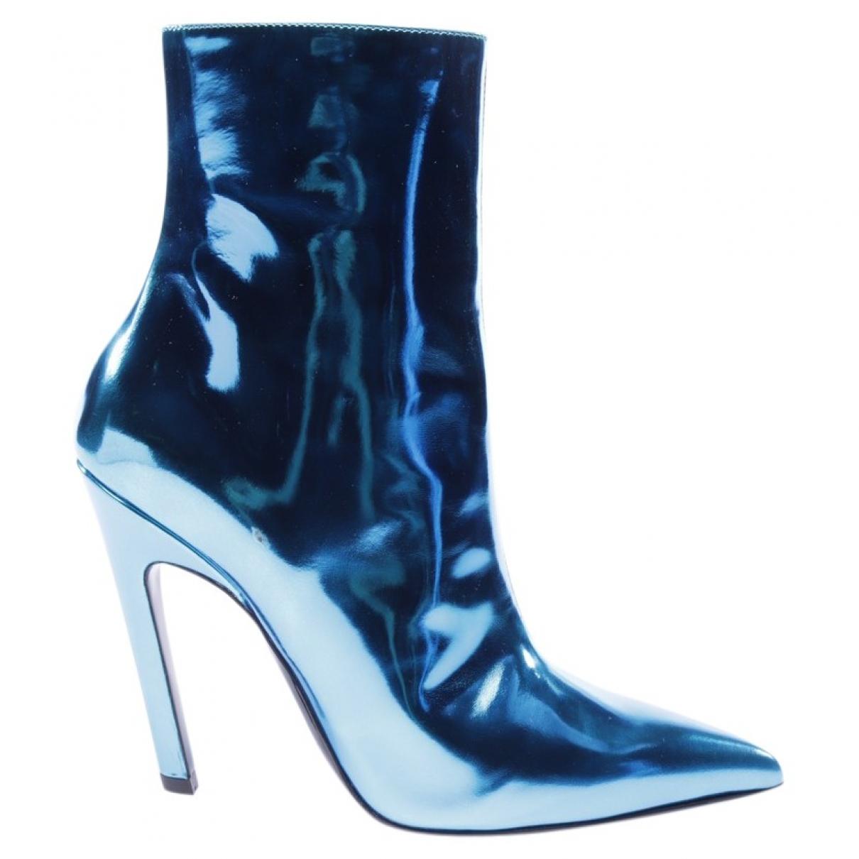 Balenciaga - Boots   pour femme en cuir - bleu
