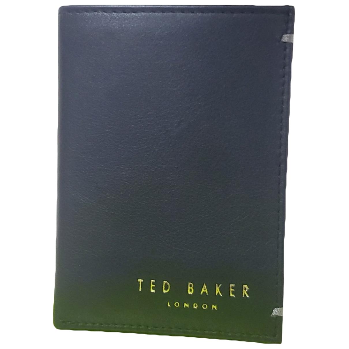 Ted Baker \N Portemonnaie in  Schwarz Leder
