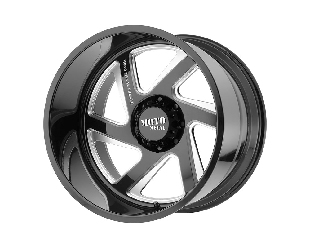 Moto Metal MO40020400M976NR MO400 Wheel 20x14 Blank -76mm Gloss Black Milled