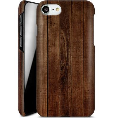 Apple iPhone 7 Smartphone Huelle - Dark Wood Floor von caseable Designs