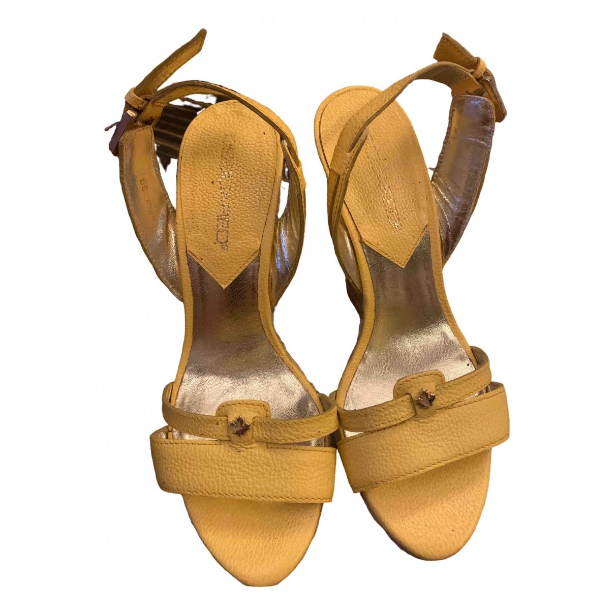 Sandalias romanas de Cuero Dsquared2