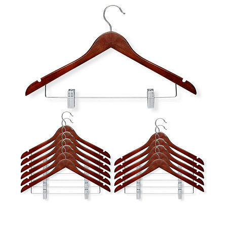 Honey-Can-Do 12-pc. Wood Hangers, One Size , Brown