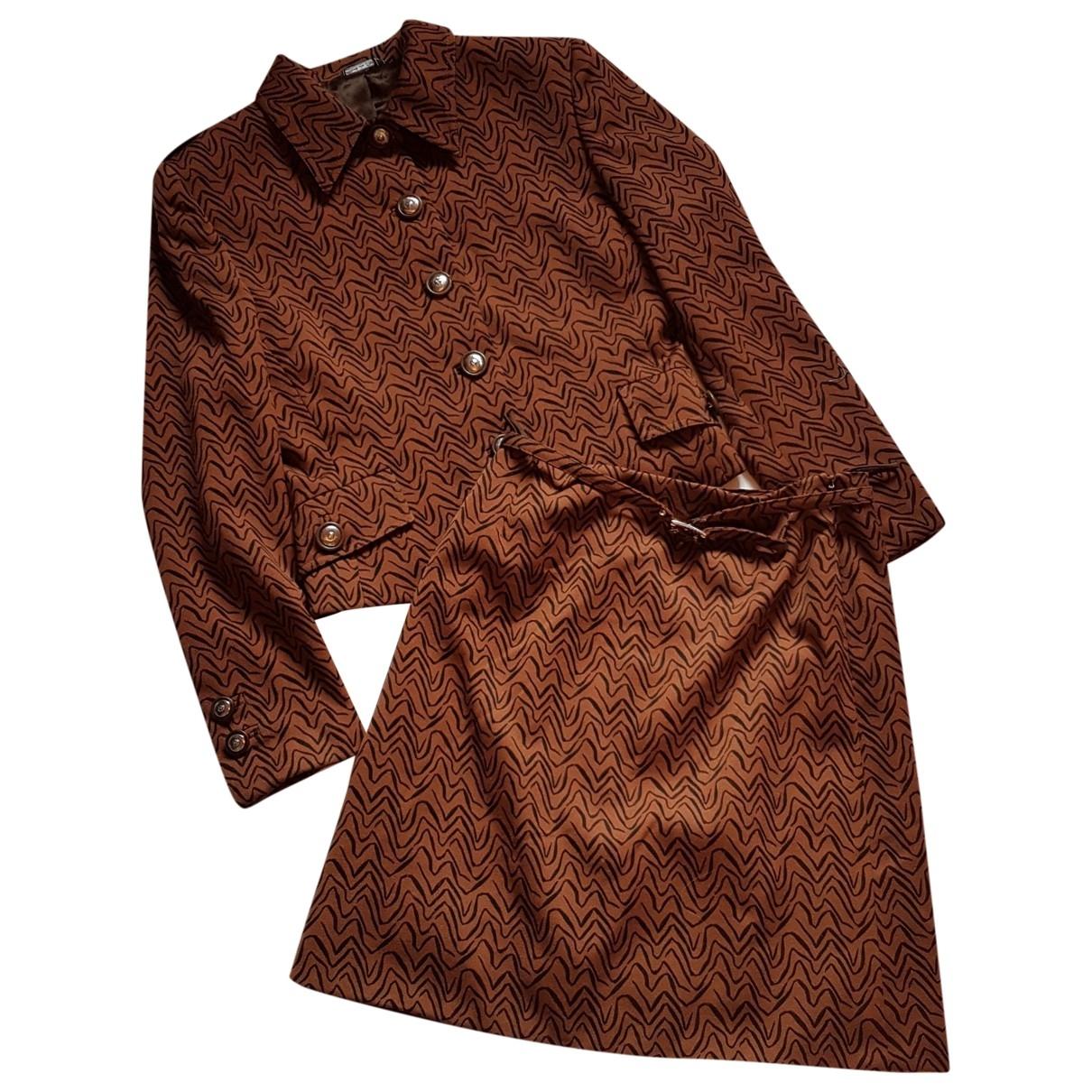 Gianni Versace \N Brown Wool jacket for Women 40 IT